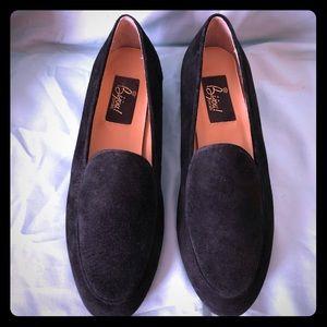 Shoes - Vintage Bijou Black Genuine Leather Loafers 8M